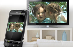 Share content on your HTC Evo 3D
