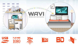 Wavi wirelessly transmitts from PC to large TV