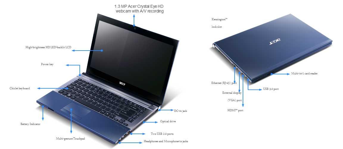 Acer Aspire Timeline X 4830t 14 Inch Laptop