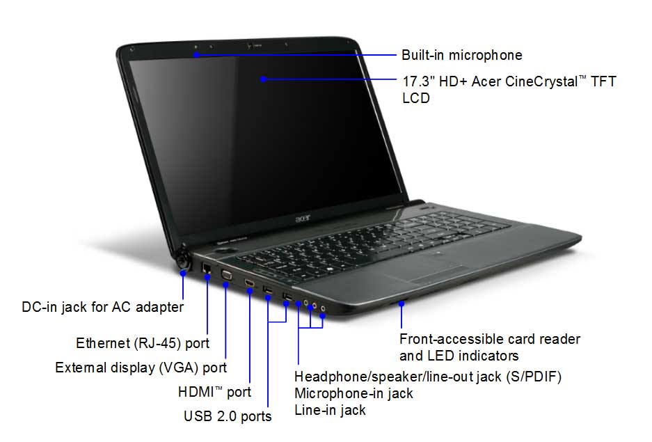 Acer Aspire 7740 17 3 Inch Laptop Intel Core I3 370m