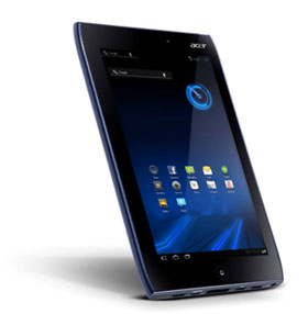 The ICONIA TAB A101 runs Android 3.0 Honeycomb
