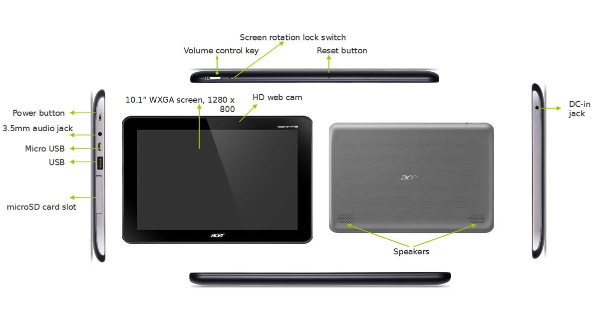 acer iconia a210 10 1 inch tablet grey nvidia tegra t30l 1 2ghz rh amazon co uk Acer Iconia Tablet Specifications Acer Iconia B1 Tablet