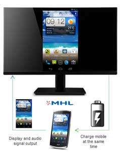 With the optional MHL technology, you can stream content from your phone and charge at the same time