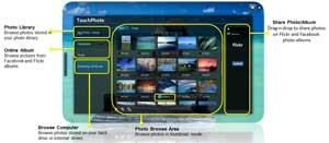 See more of the intuitive features available in Acer TouchPhoto