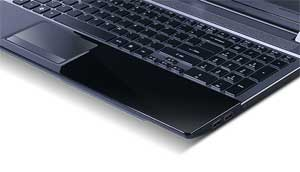 The Aspire V3 features an attractive chiclet keyboard, independent keypad, and touchpad.