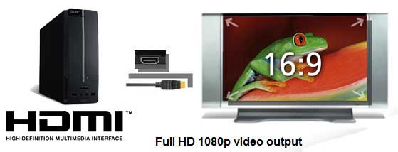 itu0027s easy to connect your pc to your hdtv for 1080p playback