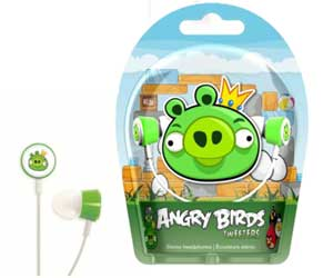 Each set of Angry Birds headphones comes in lively packaging, featuring artwork inspired by the game.