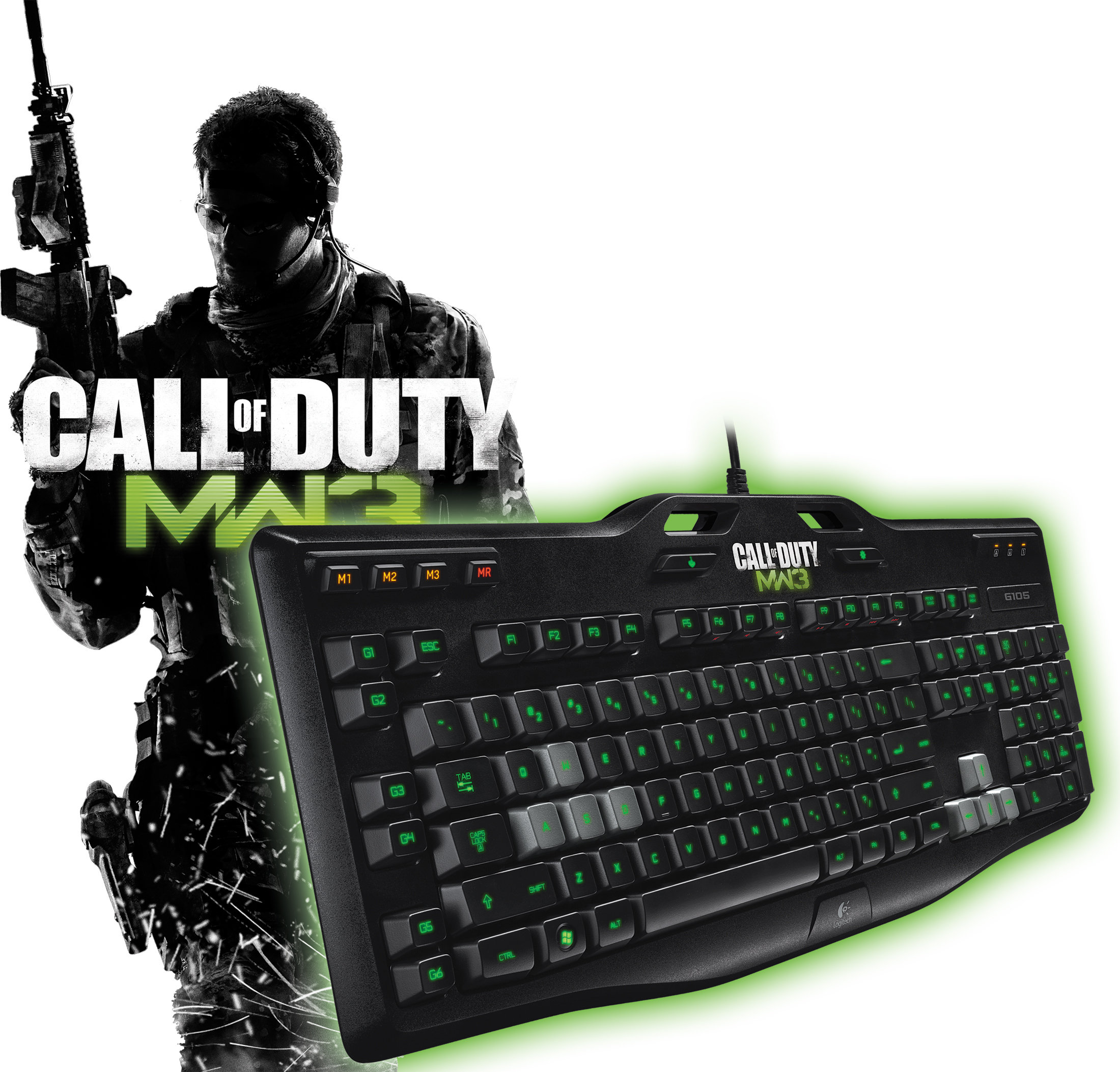 logitech g105 call of duty gaming keyboard computers accessories. Black Bedroom Furniture Sets. Home Design Ideas