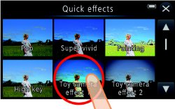 Picture shows the Quick-Effects menu display.