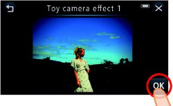 Picture shows an example of an image modified with the Toy Camera effect.