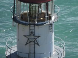 Picture shows a close-up view of a lighthouse demonstrating the camera's Dynamic Fine Zoom feature.