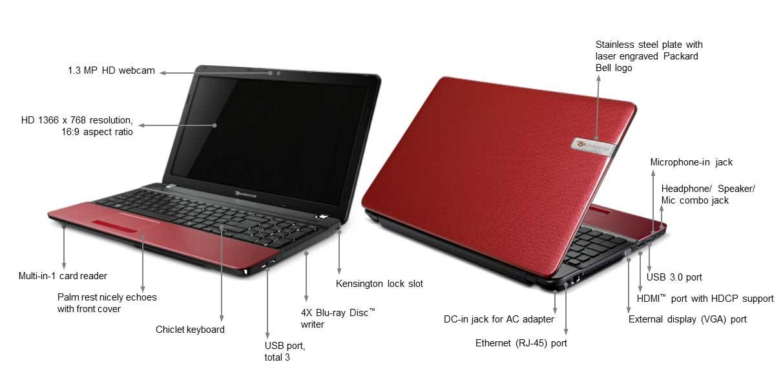 packard bell ts44 hr 844uk 15 6 inch easynote laptop. Black Bedroom Furniture Sets. Home Design Ideas