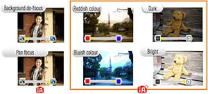 iA+ allows an element of fine tuning to the focus, colour and brightness settings