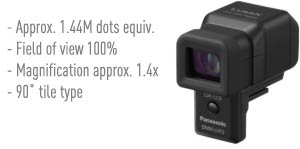 This highly-spec'd electronic viewfinder is easily attached to the hot-shoe connector