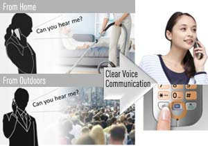 Reduces noise around you to help you hear the caller better