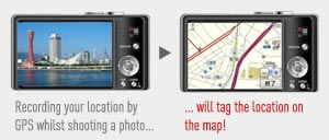 Latitude and Longitude positioning are stored in the image data for each photograph