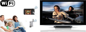 Enjoy a wireless slide show on your TV