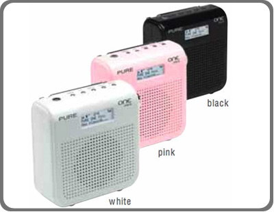 pure one mini compact portable dab fm radio white. Black Bedroom Furniture Sets. Home Design Ideas