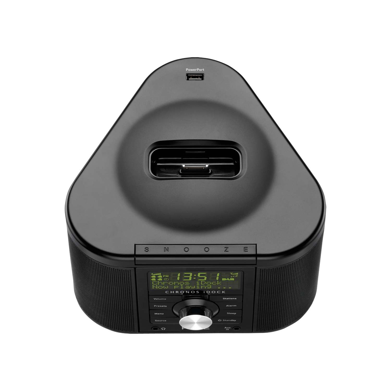 pure chronos idock series ii dab fm stereo clock radio with dock for ipod ip. Black Bedroom Furniture Sets. Home Design Ideas