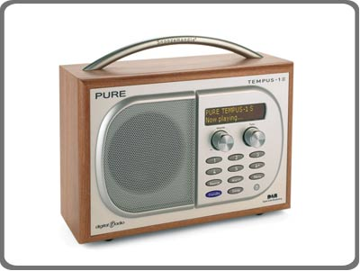 pure tempus 1s luxury dab fm clock radio cherry tv. Black Bedroom Furniture Sets. Home Design Ideas