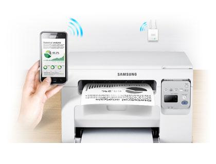 samsung scx 3405w wireless multifunction mono laser printer print scan copy. Black Bedroom Furniture Sets. Home Design Ideas
