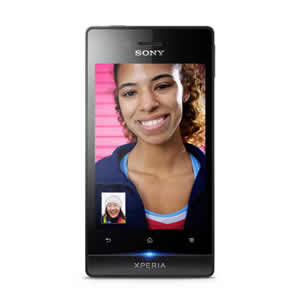 Take self portrait photos or video call with Xperia miro