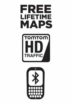 FREE Lifetime Maps, Speak & GO, and Hands-Free calling via Bluetooth™