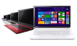 Available in a choice of four colours - Black, White, Red, and Light Gold - the Toshiba Satellite L50-B comes with an eye-catching patterned finish
