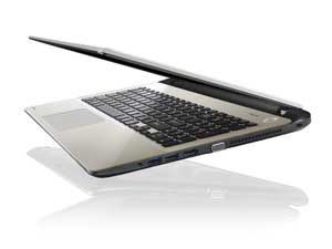 Ultra portable with low power-consumption processors, the Satellite L50-B is super slim.