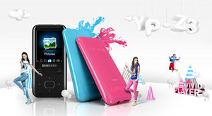 Colour range of Samsung YP-Z3 Z3 Ruskin MP3 HD Player