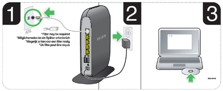 Belkin wireless surf modem router adsl bt line amazon easy set up setup greentooth Image collections