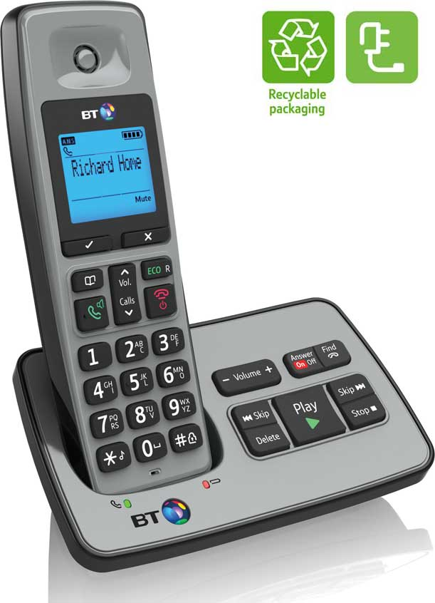 bt 2500 cordless dect phone with answer machine electronics. Black Bedroom Furniture Sets. Home Design Ideas