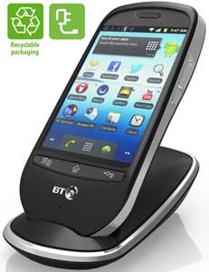The BT Home Smart Phone is energy efficient and also comes with recyclable packaging.