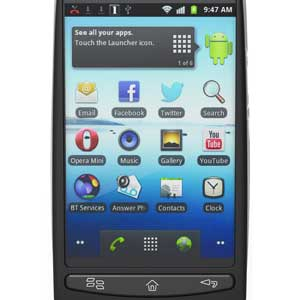 The bright touch screen lets you interact with your favourite apps, play games, and more.
