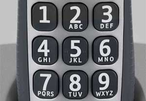 Large, clear and durable buttons make dialing easy and accurate