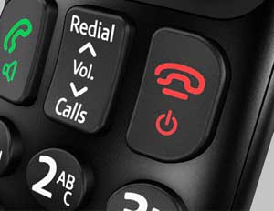 The large, high quality buttons are easy to press and make dialling quick and accurate
