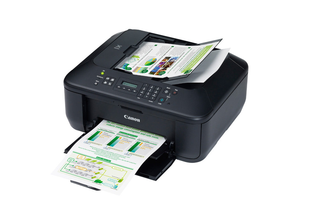 Canon PIXMA MX395 All-In-One Colour Printer (Print, Copy, Scan, Fax, 30  Page ADF and Scan to Cloud)