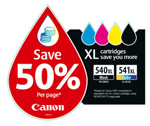 Print more for less with XL FINE cartridges