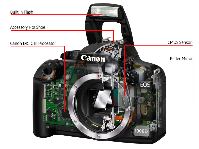 Canon EOS 1000D EF-S 18-55mm f/3 5-5 6 (non IS) Lens Kit