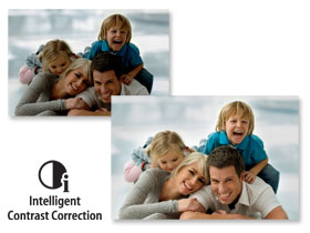 Canon's Intelligent Contrast Correction automatically adjusts for the best image