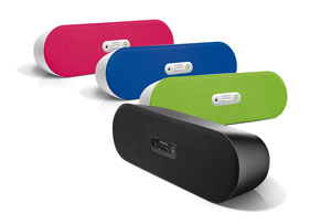 A compact yet powerful wireless speaker, the D80 comes in four attractive colours.