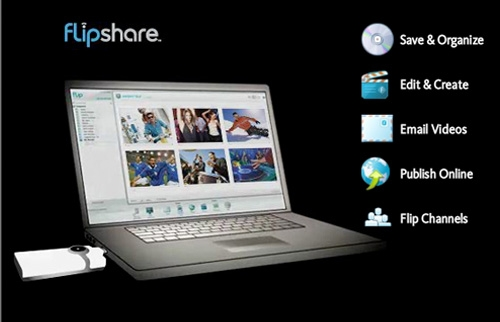 Pre-Loaded FlipShare Software