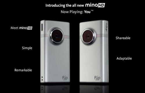 The all-new Flip Mino<i>HD</i>.