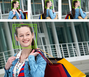 Face Tracking Auto Focus combines Face Detection with Tracking Auto Focus to keep your subject in sharp focus