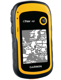 Garmin eTrex 10 Outdoor Handheld GPS Unit, Black/Yellow