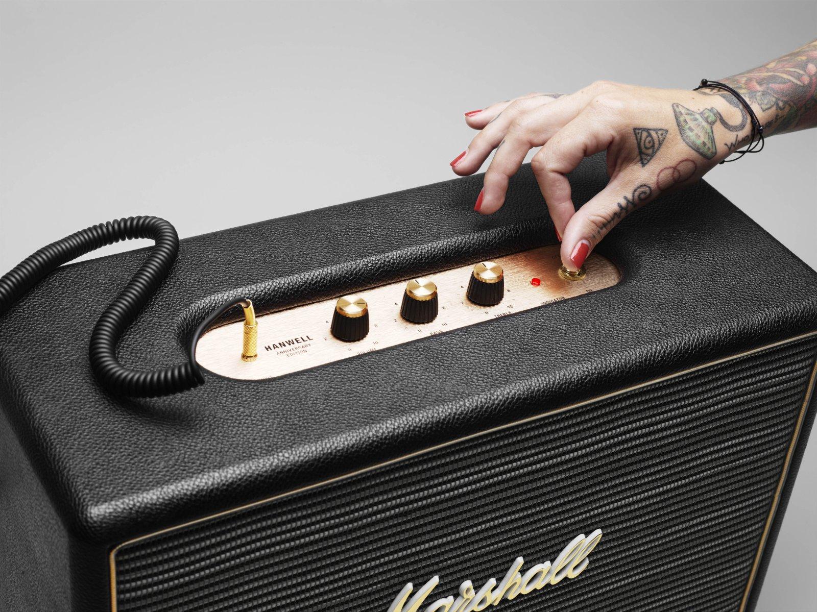 Marshall Hanwell Mp3 Speaker Black Amazon Co Uk Hi Fi