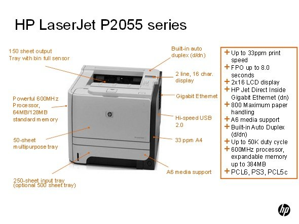 HP LaserJet P2055dn Network Laser Printer: Amazon.co.uk ...