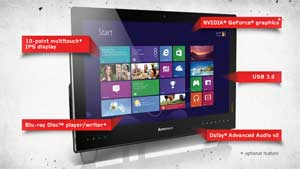 The Lenovo IdeaCentre B340 is packed full of intuitive and fun touch-control features