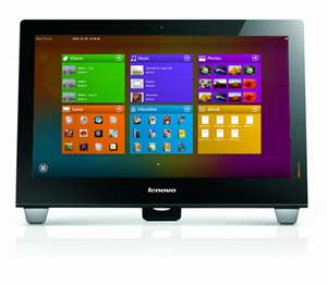 The B540 comes with Lenovo IdeaTouch - a range of touch-optimised applications pre-installed.