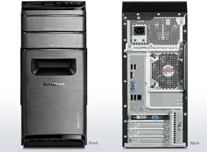 The Lenovo IdeaCentre K410 has a stylish and user-friendly chassis design
